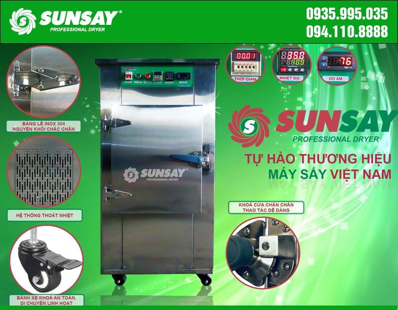 Cấu tạo máy sấy lạnh mini 9 khay chuyên sấu thực phẩm