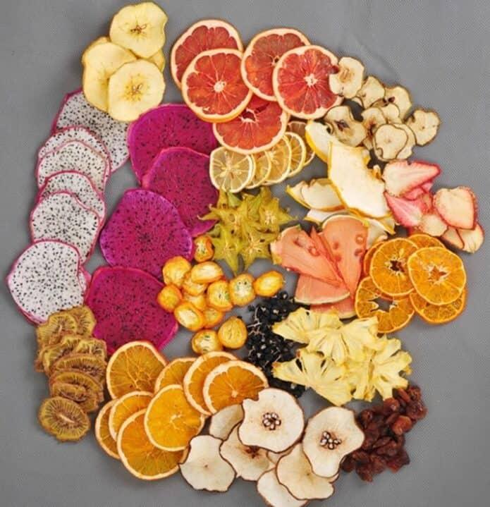 Hoa quả sấy lạnh làm Detox