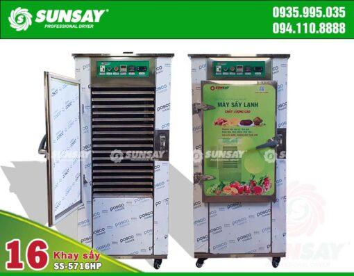 Máy sấy lạnh 16 khay chế biến bột rau củ SS-5716HP