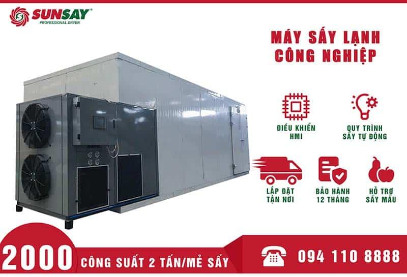 Máy sấy lạnh công nghiệp 2 Tấn