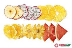 Trái cây sấy bằng máy sấy giòn trái cây