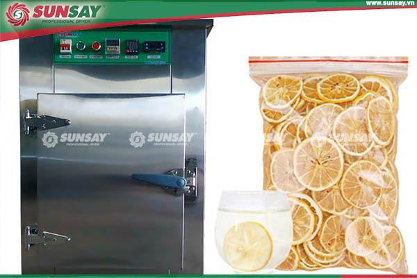 chanh sấy lạnh bằng máy sấy lạnh